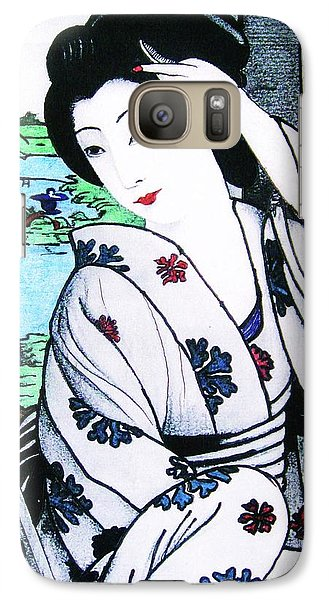 Galaxy Case featuring the painting Utsukushii Josei by Roberto Prusso