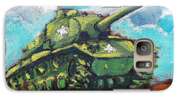 Galaxy Case featuring the painting V. F. W. Tank by Les Leffingwell