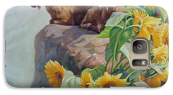 Galaxy Case featuring the painting Vacation In The Rocky Mountains by Svitozar Nenyuk