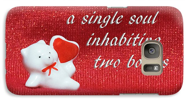 Galaxy Case featuring the photograph Valentine By Aristotle by Linda Phelps