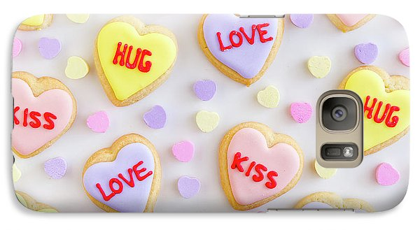 Galaxy Case featuring the photograph Valentine Heart Cookies by Teri Virbickis