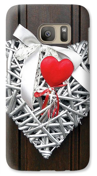 Galaxy Case featuring the photograph Valentine Heart by Juergen Weiss