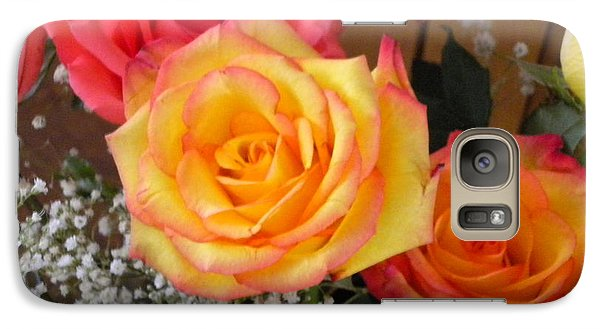 Galaxy Case featuring the painting Valentine's Day Roses 2 by Renate Nadi Wesley