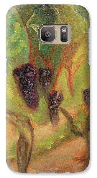 Galaxy Case featuring the painting Valhalla Vineyard by Donna Tuten