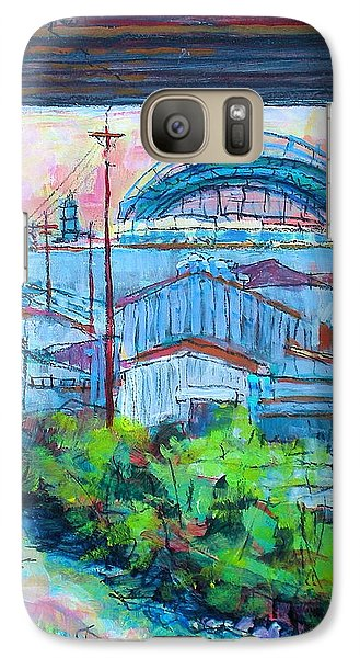Galaxy Case featuring the painting Valley Below by Les Leffingwell