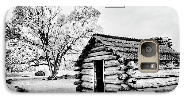 Galaxy Case featuring the photograph Valley Forge Winter Troops Hut                           by Paul W Faust - Impressions of Light
