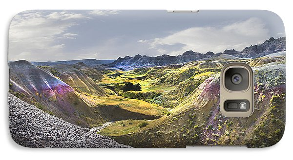 Galaxy Case featuring the photograph Valley Of Beauty,badlands South Dakota by John Hix