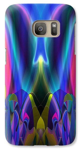 Galaxy Case featuring the digital art Valley Of The Mythic Waterfall by Lynda Lehmann