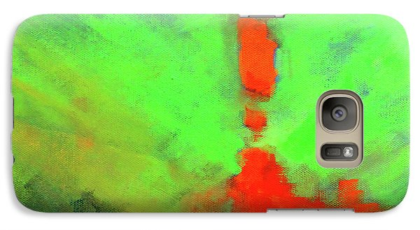 Galaxy S7 Case featuring the painting Valley View by Nancy Merkle
