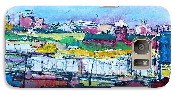 Galaxy Case featuring the painting Valley Yard by Les Leffingwell