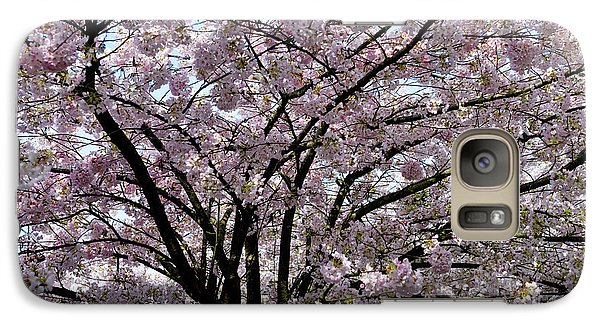Galaxy Case featuring the photograph Vancouver 2017 Spring Time Cherry Blossoms - 10 by Terry Elniski