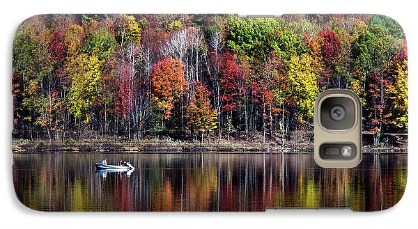 Vanishing Autumn Reflection Landscape Galaxy S7 Case by Christina Rollo