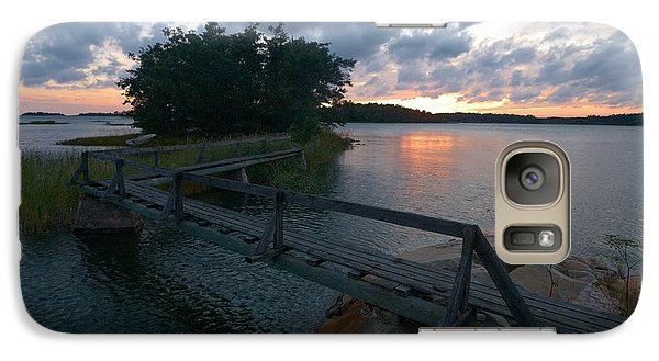 Galaxy Case featuring the photograph Variations Of Sunsets At Gulf Of Bothnia 6 by Jouko Lehto
