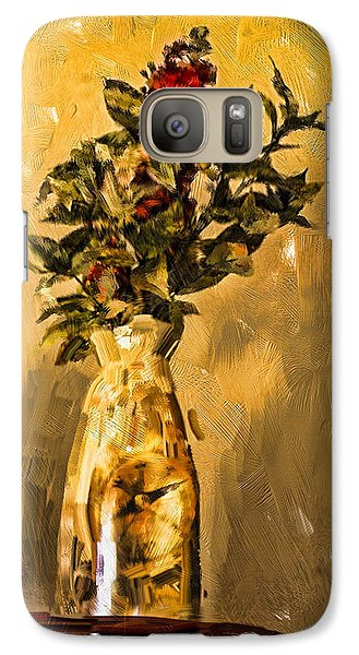 Galaxy Case featuring the digital art Vase And Flowers by Dale Stillman
