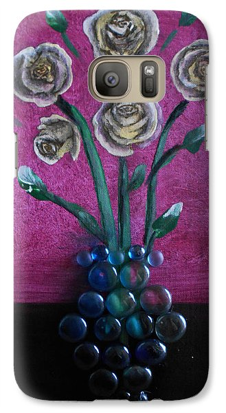 Galaxy Case featuring the mixed media Vase by Angela Stout