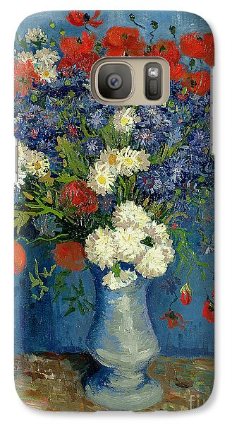 Vase With Cornflowers And Poppies Galaxy S7 Case by Vincent Van Gogh