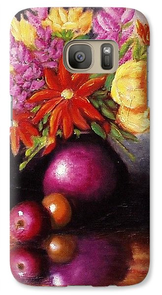 Galaxy Case featuring the painting Vase With Flowers by Gene Gregory