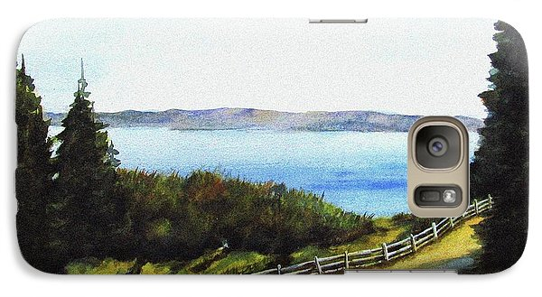 Galaxy Case featuring the painting Vashon Island by Marti Green