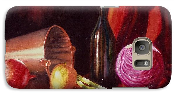 Galaxy Case featuring the painting Veggie Bucket. by Gene Gregory