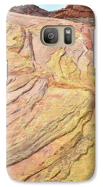 Galaxy Case featuring the photograph Veins Of Gold In Valley Of Fire by Ray Mathis