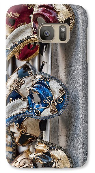 Galaxy Case featuring the photograph Venetian Carnival Masks by Kim Wilson