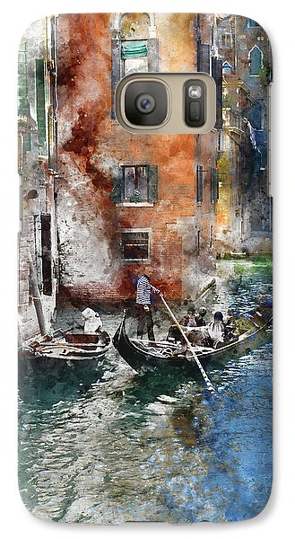 Venetian Gondolier In Venice Italy Galaxy S7 Case