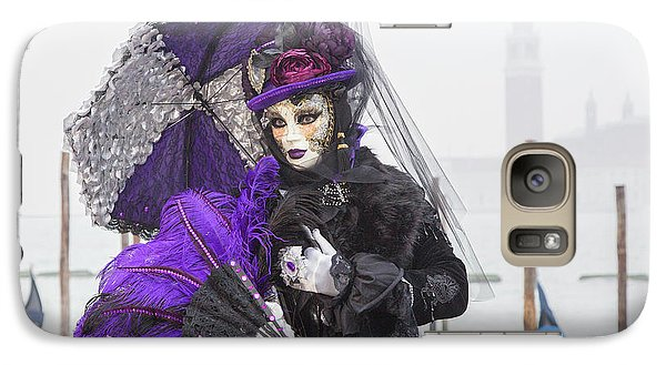 Venetian Lady In Purple Galaxy S7 Case