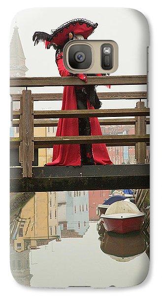 Venetian Lady On Bridge In Burano Galaxy S7 Case