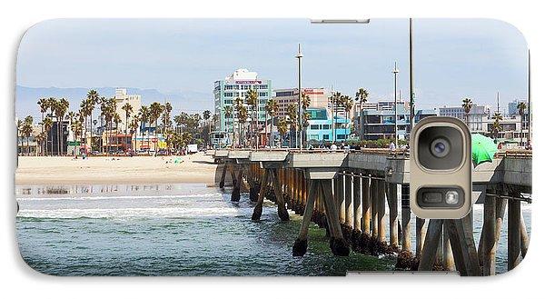 Venice Beach From The Pier Galaxy Case by Ana V Ramirez