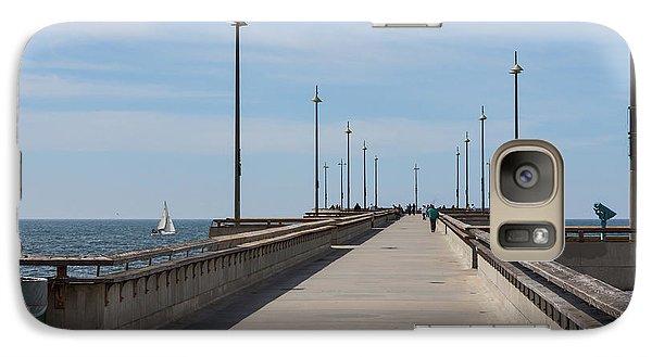 Venice Beach Pier Galaxy Case by Ana V Ramirez