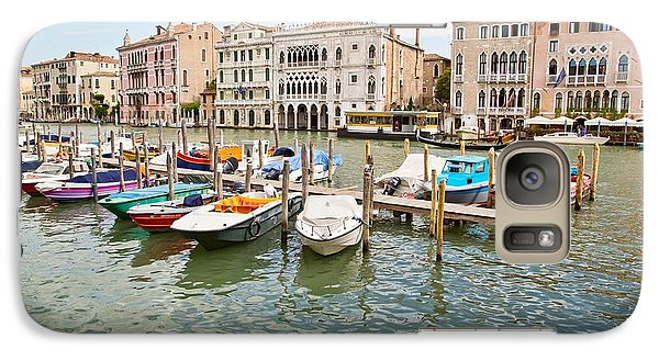Galaxy Case featuring the photograph Venice Boats by Sharon Jones