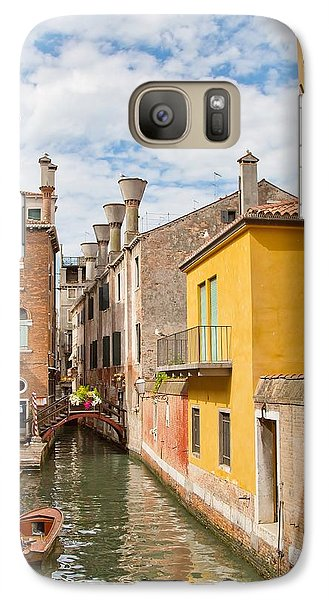 Galaxy Case featuring the photograph Venice Canal by Sharon Jones