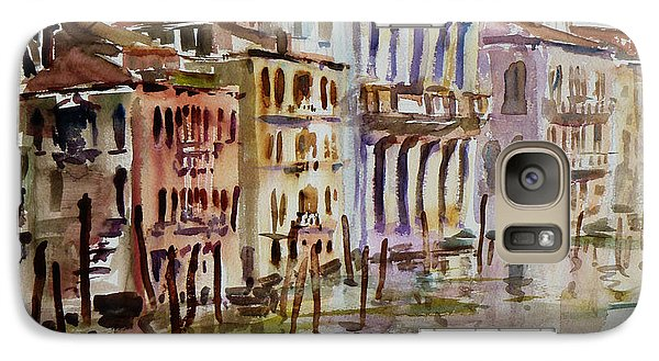 Galaxy Case featuring the painting Venice Impression II by Xueling Zou