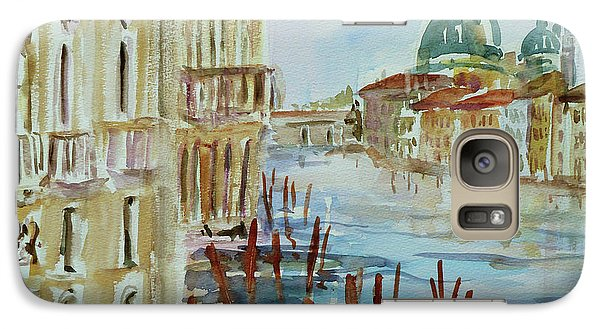 Galaxy Case featuring the painting Venice Impression IIi by Xueling Zou
