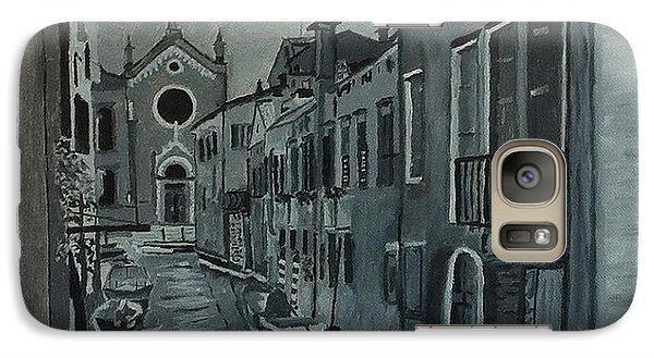 Galaxy Case featuring the painting Venice In Grey And White by Rod Jellison
