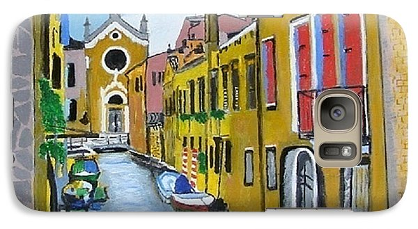 Galaxy Case featuring the painting Venice In September by Rod Jellison