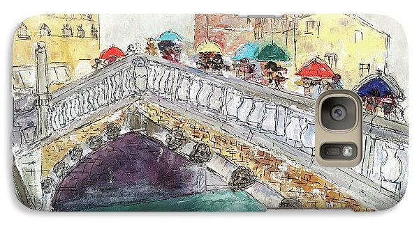 Galaxy Case featuring the painting Venice In The Rain by Barbara Anna Knauf