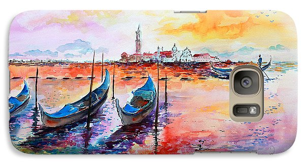 Galaxy Case featuring the painting Venice Italy Gondola Ride by Ginette Callaway