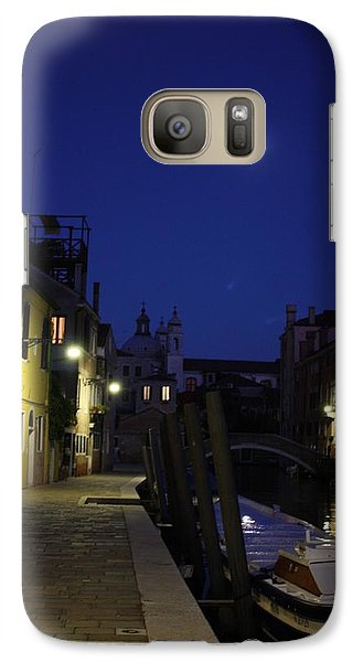 Galaxy Case featuring the photograph Venice Moon by Pat Purdy