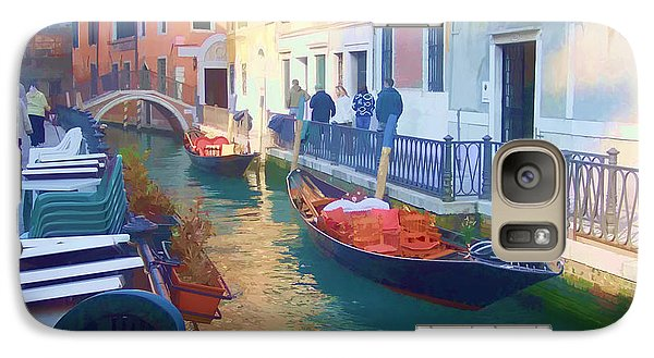 Galaxy Case featuring the photograph Venice Sidewalk Cafe by Roberta Byram