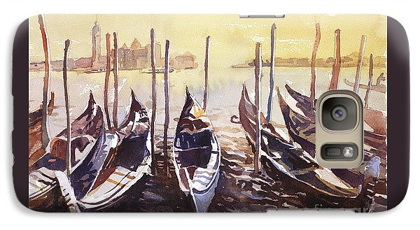 Galaxy Case featuring the painting Venice Watercolor- Italy by Ryan Fox