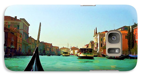 Galaxy Case featuring the photograph Venice Waterway by Roberta Byram