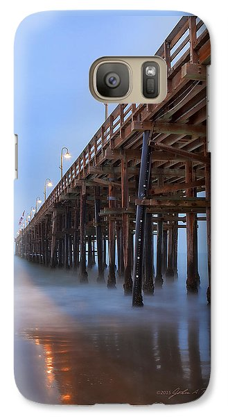 Galaxy Case featuring the photograph Ventura Ca Pier At Dawn by John A Rodriguez