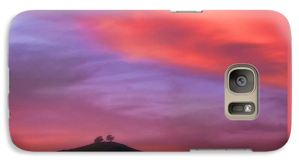 Galaxy Case featuring the photograph Ventura Ca Two Trees At Sunset by John A Rodriguez