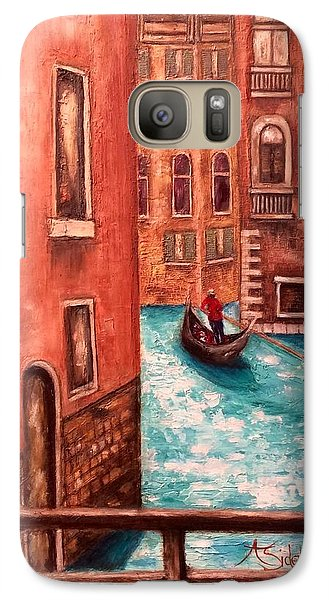 Galaxy Case featuring the painting Venice by Annamarie Sidella-Felts