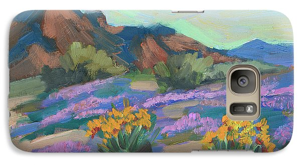 Galaxy Case featuring the painting Verbena And Spring by Diane McClary