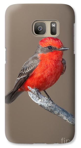 Vermilion Flycatcher Galaxy S7 Case