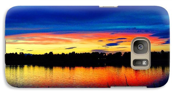 Galaxy Case featuring the photograph Vermillion Sunset by Eric Dee
