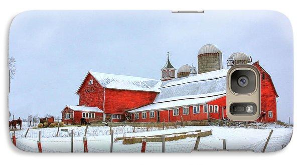 Galaxy Case featuring the digital art Vermont Barn by Sharon Batdorf