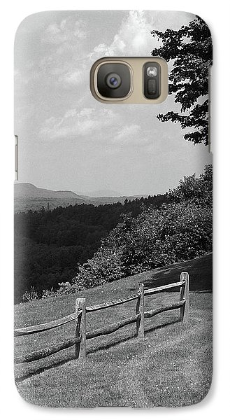 Galaxy Case featuring the photograph Vermont Countryside 2006 Bw by Frank Romeo